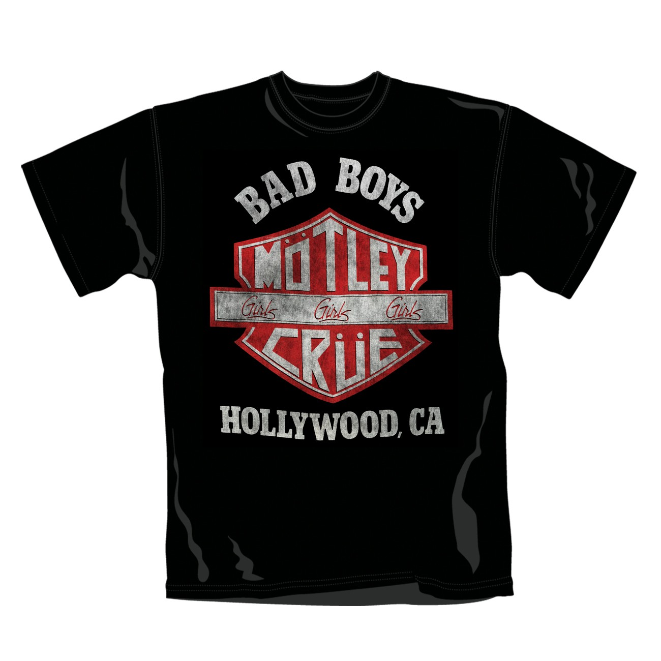 "MOTLEY CRUE ""Shield"" Official T-Shirt (XL)"