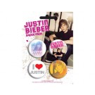"JUSTIN BIEBER ""Pack 1"" Badge Pack (4 x 1.5"" Badges)"