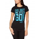 "CHARLIE SHEEN ""One Speed Go"" Official Women's Black Cotton T-Shirt (M)"