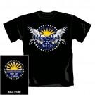 """ROBERT PLANT """"Wings"""" Official Men's/Unisex Cotton Black T-Shirt """"S"""""""