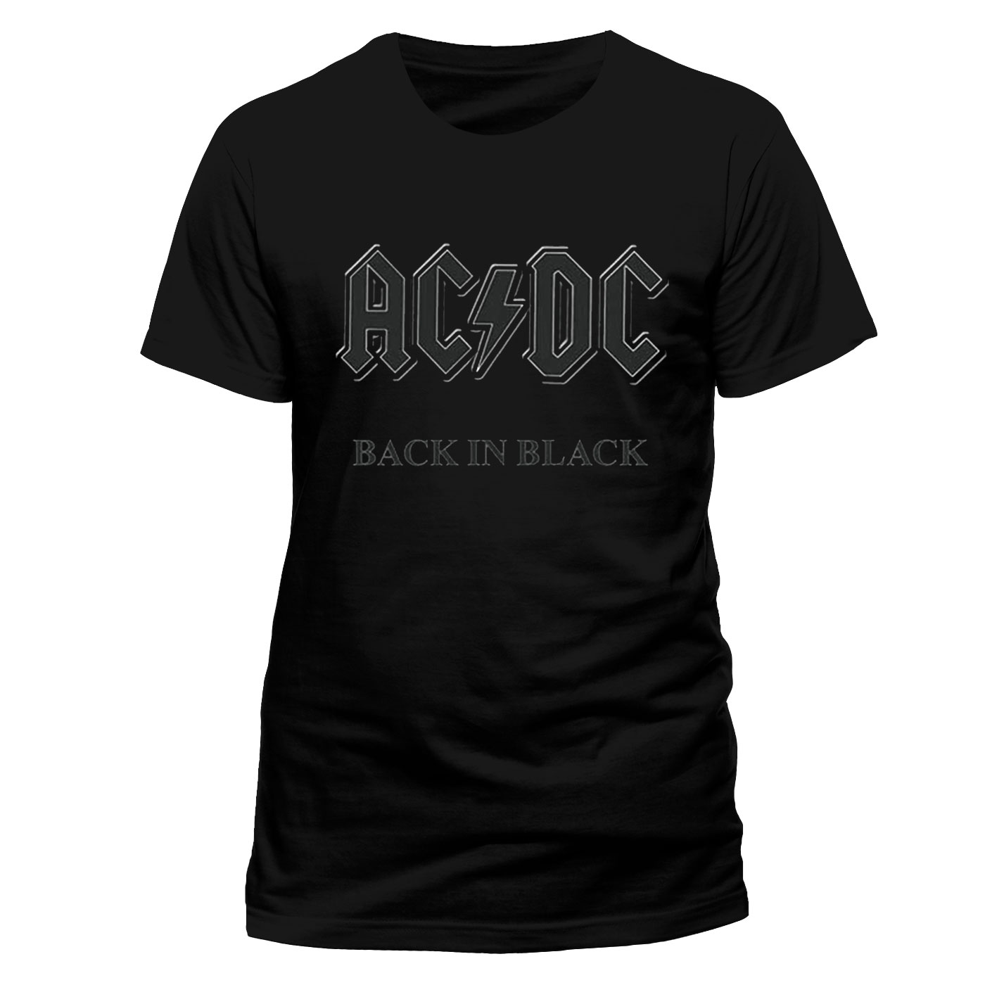 Back in black t shirt - Image Is Loading Ac Dc 034 Back In Black 034 Official