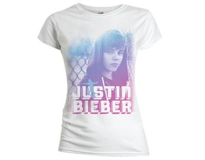 "JUSTIN BIEBER ""On Da Fence"" Womens T-Shirt (M)"