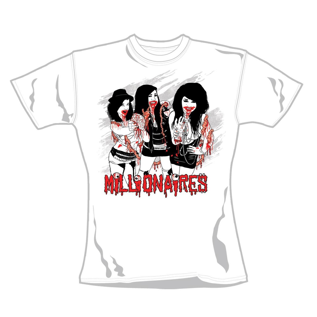"""MILLIONNAIRES """"Gore Girls"""" Official Women T-Shirt (L)"""