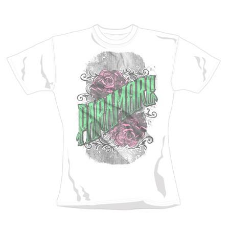 "PARAMORE ""Green Logo"" Official Womens T-Shirt (L)"