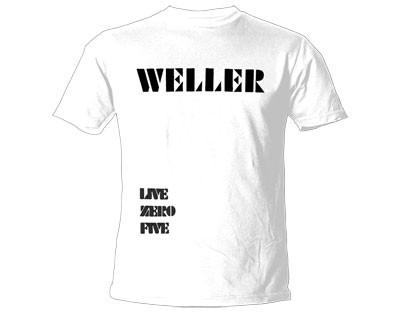 """PAUL WELLER """"Live Zero Five"""" Official Womens T-Shirt(L)"""