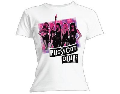 """PUSSYCAT DOLLS """"Tartan"""" Womens T-Shirt (L)"""