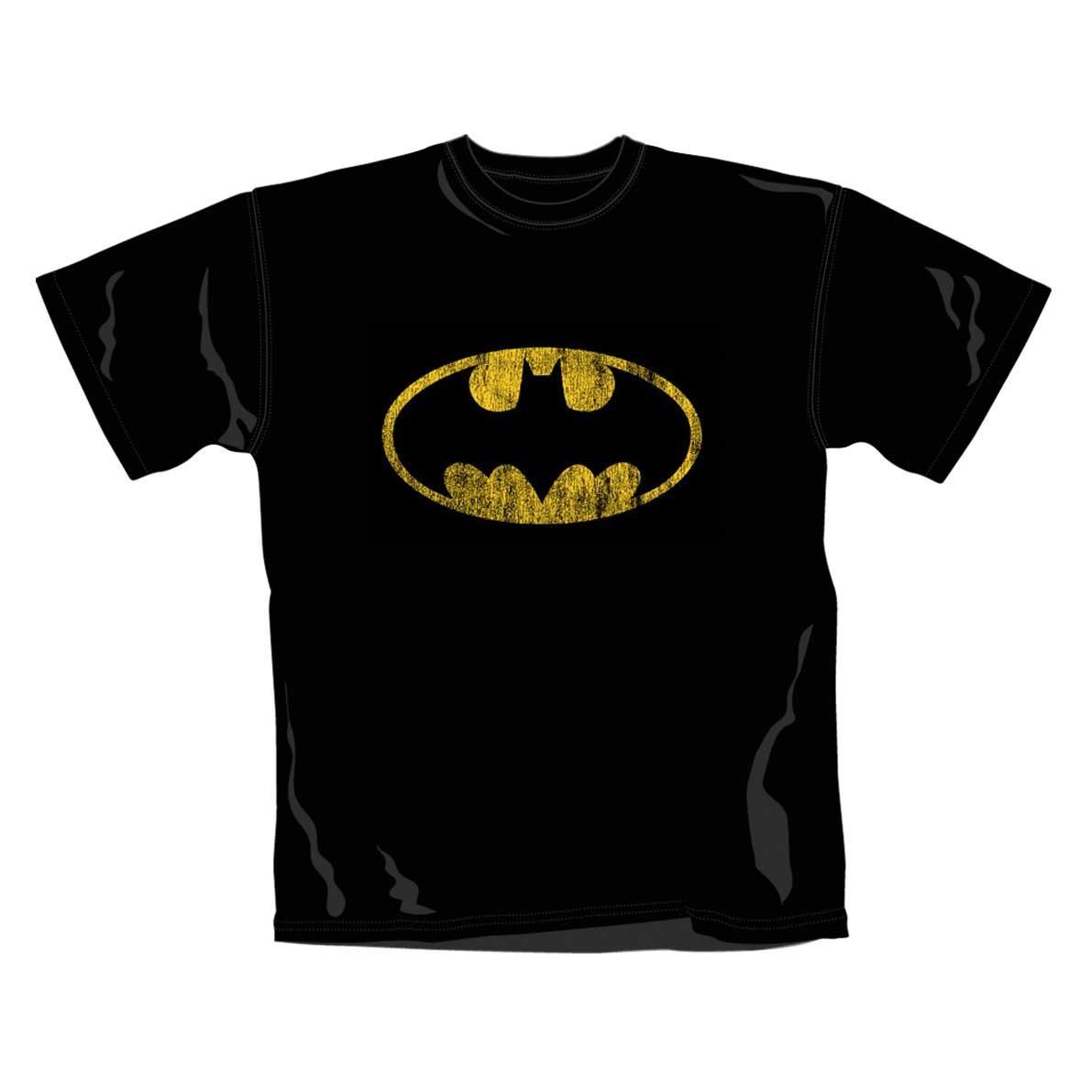 "BATMAN ""Distressed Shield"" Official T-Shirt (L)"