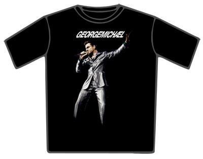 """GEORGE MICHAEL """"25 Live Photo"""" Official Men's/Unisex Black T-Shirt (M)"""