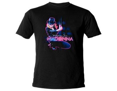 """MADONNA """"Pole Tour"""" Official T-Shirt (L)"""