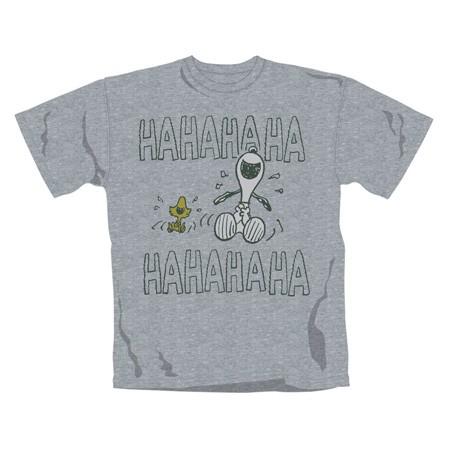 """PEANUTS """"Ha Ha Ha"""" Official T-Shirt (L)"""