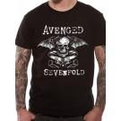 """AVENGED SEVENFOLD """"DB Banner"""" Official Men's T-Shirt (S)"""
