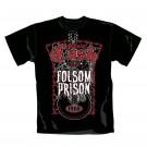"""JOHNNY CASH """"Folsom"""" Official Men's/Unisex Cotton Black Crew Neck T-Shirt (XL)"""