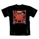 """KISS """"Sonic Boom"""" Official Men's/Unisex Cotton Crew Neck Black T-Shirt (S)"""