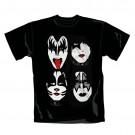 """KISS """"Stand"""" Official Men's/Unisex Cotton Black Crew Neck T-Shirt (M)"""