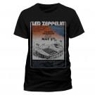 "LED ZEPPELIN ""Tampa Stadium"" Men's/Unisex Official Black Cotton T-Shirt (S)"